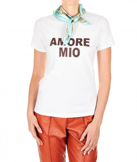 5 Progress T-Shirt Amore Mio white
