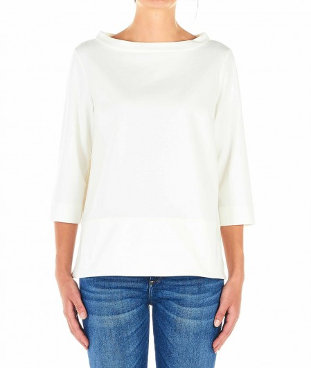 Babel Shirt mit Seitenschlitz Weiß