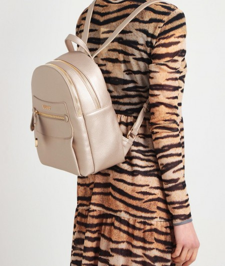 Liu Jo Backpack with logo detail gold