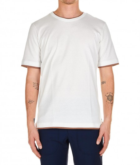 Eleventy T-shirt in layering effect white