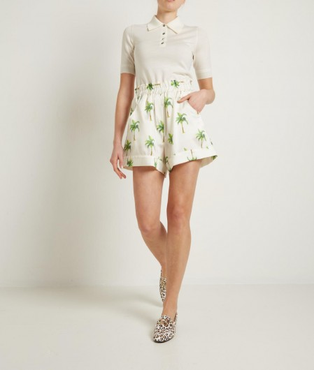5 Progress Shorts with all-over print creme