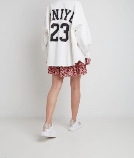 Aniye By Hemd in Denim mit Logodruck Weiß