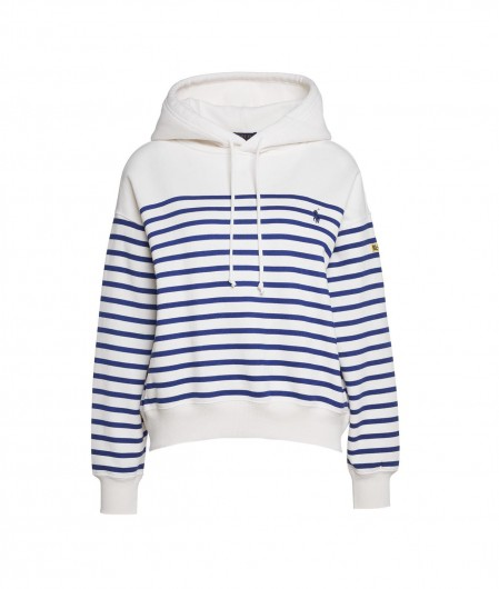 Polo Ralph Lauren Jumper with cross stripes white