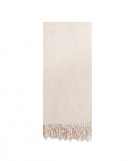 Closed Scarf with logo pattern beige