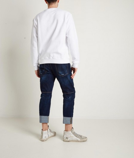 Dsquared2 Sweatshirt with logo writing white