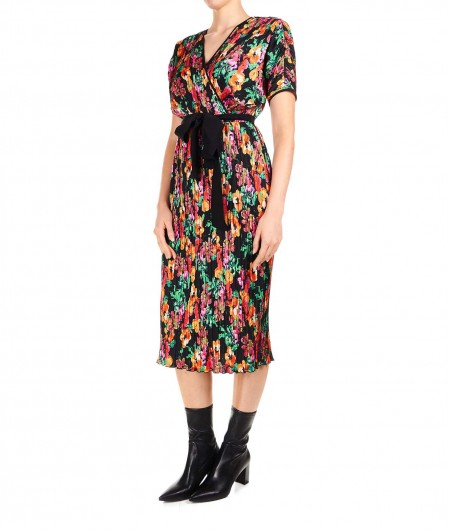 Diane von Furstenberg Floral midi dress black