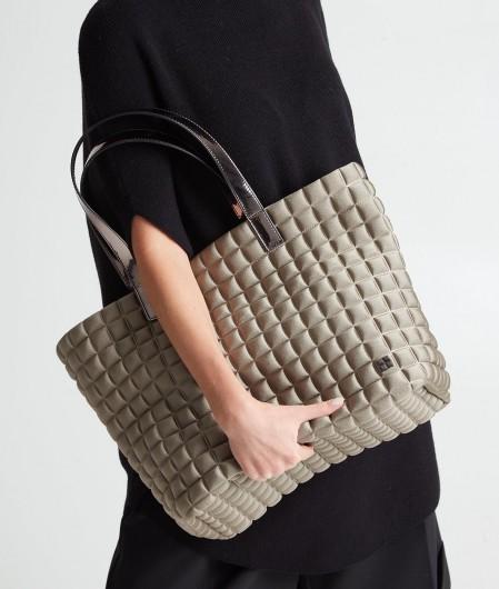 BPrime Medium Lami Cube Shopper gray