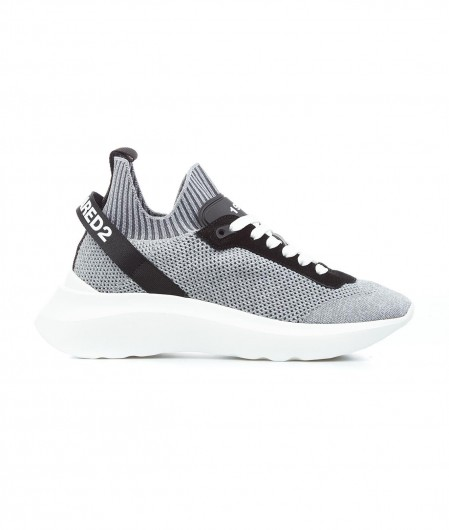 """Dsquared2 Lace-Up Low Top Sneakers """"Speedster"""" Grau"""