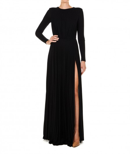 Elisabetta Franchi Maxi dress with back neckline black