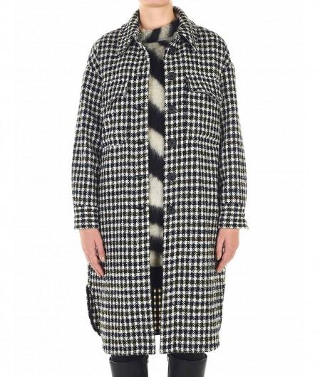 Front Street 8 Leichter Tweed Mantel Blau