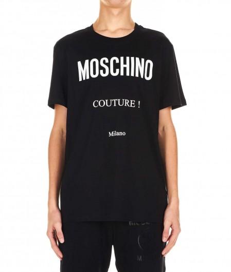 Moschino T-shirt with 3D logo print black