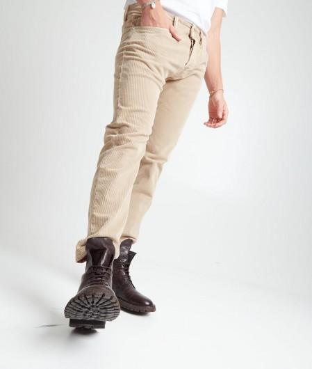 "Nine in the morning  Corduroy trousers ""Rock Man"" beige"
