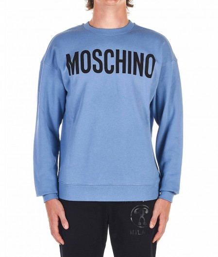 Moschino Sweatshirt with logo blue