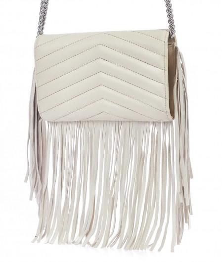 Pinko Mini Love Bag Puff Fringes white