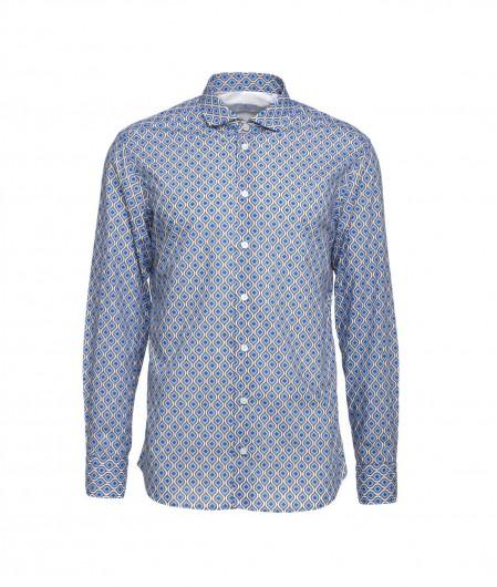 Bastoncino Hemd mit Muster Blau
