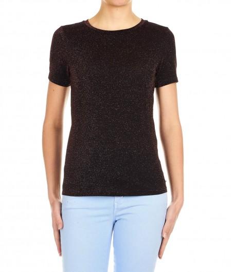 "Otto d'ame T-shirt in Lurex ""Ile"" bronze"