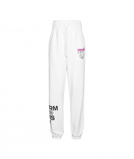 Pharmacy Industry High waste jogging pants white