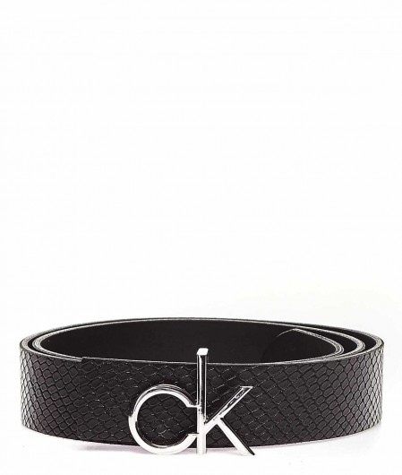 "Calvin Klein Belt in reptile look ""Rev"" black"