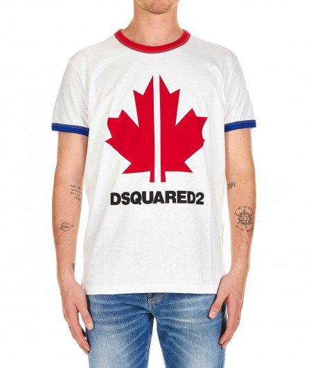 Dsquared2 T-shirt with front print white
