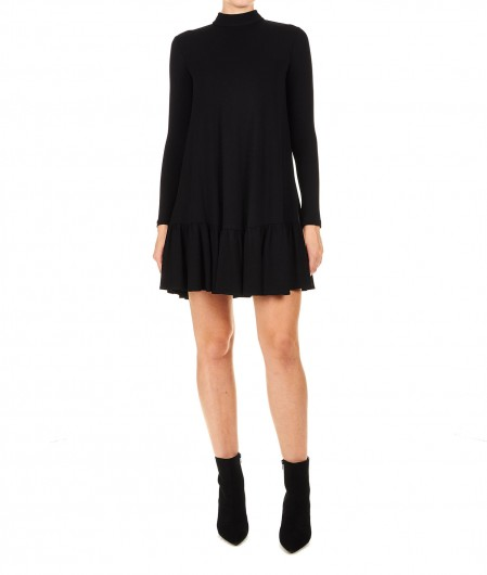 Elisabetta Franchi Passepartout dress in jersey black
