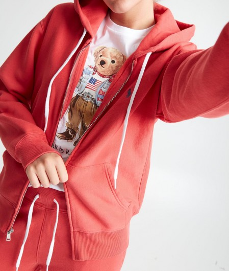 Polo Ralph Lauren Hoodie with zip red