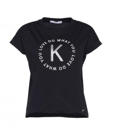 Kaos T-shirt mit logo black