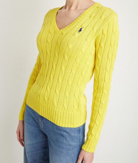 Polo Ralph Lauren Sweater with cable knit yellow