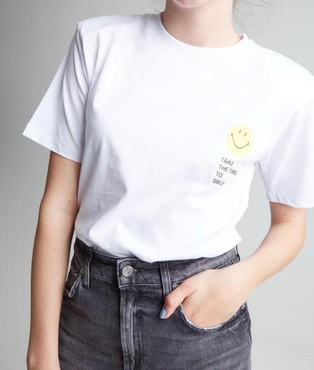 """Joshuas T-Shirt """"Smiley"""" mit Schulterpolster Weiß"""