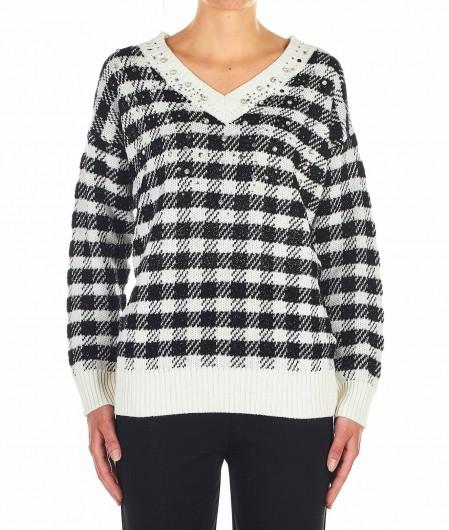"Pinko Glencheck knit sweater ""Moldavia"" multicoloured"