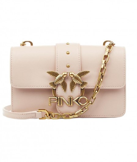 Pinko Crossbodybag with logo light rose