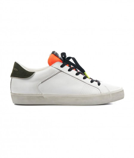 """Crime London Low top sneaker """"Distressed"""" white"""