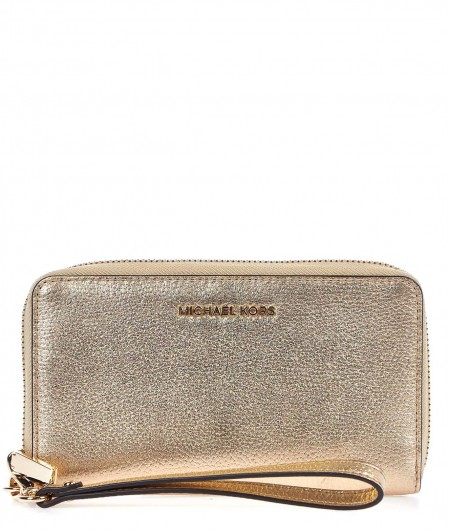 "Michael Kors Wallet ""Jet Set"" with smartphone insert gold"