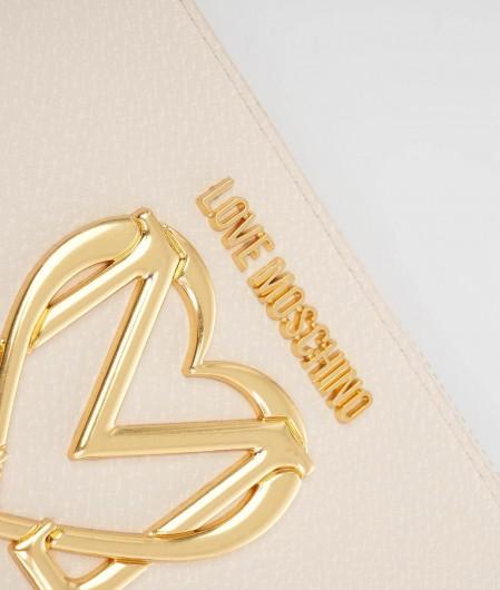 Love Moschino Portemonnaie mit Logo Elfenbein