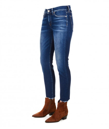 "7 for all mankind Skinny jeans ""Roxanne Crop"" navy"