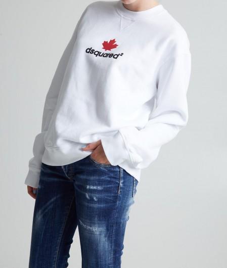 Dsquared2 Sweater mit Logo Weiß