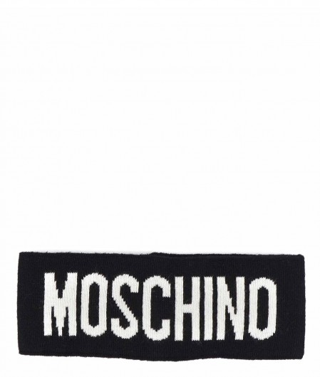 Moschino Stirnband mit Logoschriftzug Schwarz