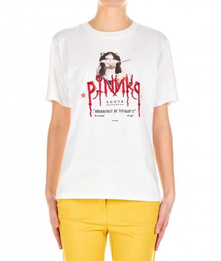 Pinko T-Shirt Pinko X Lucia Heffernan Weiß