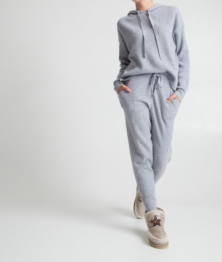 360 Sweater Hoodie in cashmere gray