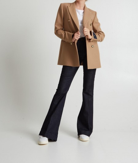 """Seafarer Double breasted jacket """"Betty"""" brown"""