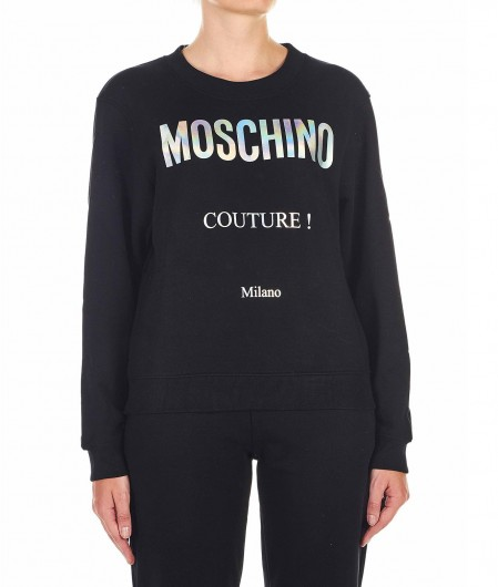 Moschino Sweater with logo writing black