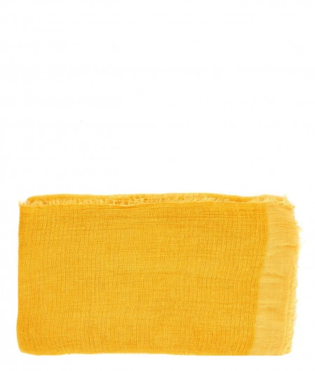 Altea Scarf with velvet finish mustard