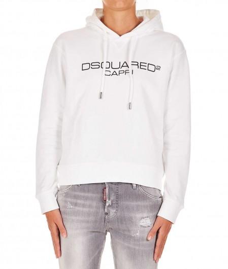 Dsquared2 Hoodie mit Logo Weiß