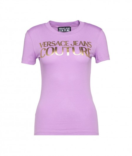 Versace Jeans Couture Jersey T-Shirt Lila