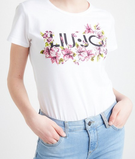 Liu Jo T-shirt with logo print and applications white