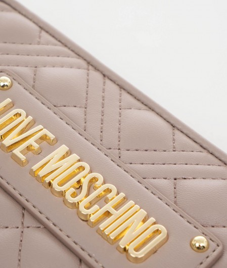 Love Moschino Quilted wallet gray