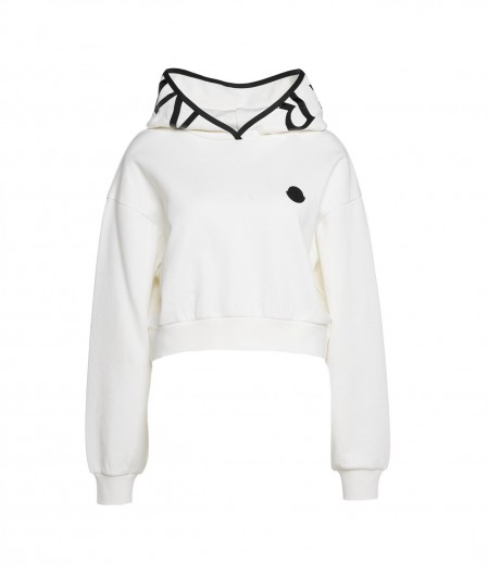 Moncler Sweater with logopatch white