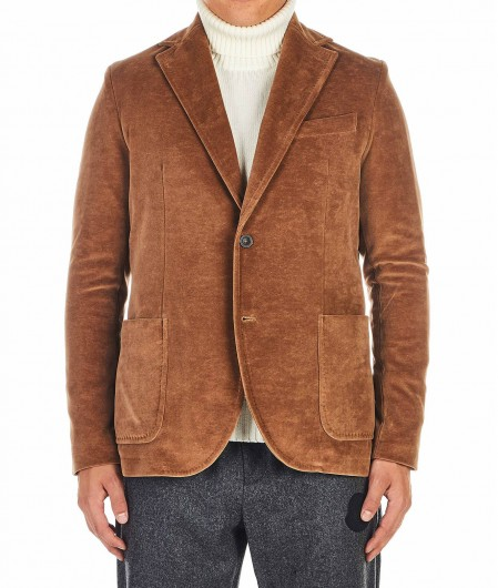 Circolo 1901 Cotton-Velour Blazer brown