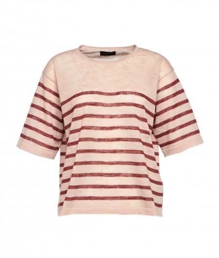 Roberto Collina Shirt mit Streifen Rosa