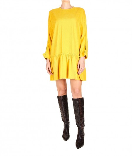"8PM Cord velvet dress ""Alfa Centauri"" mustard"