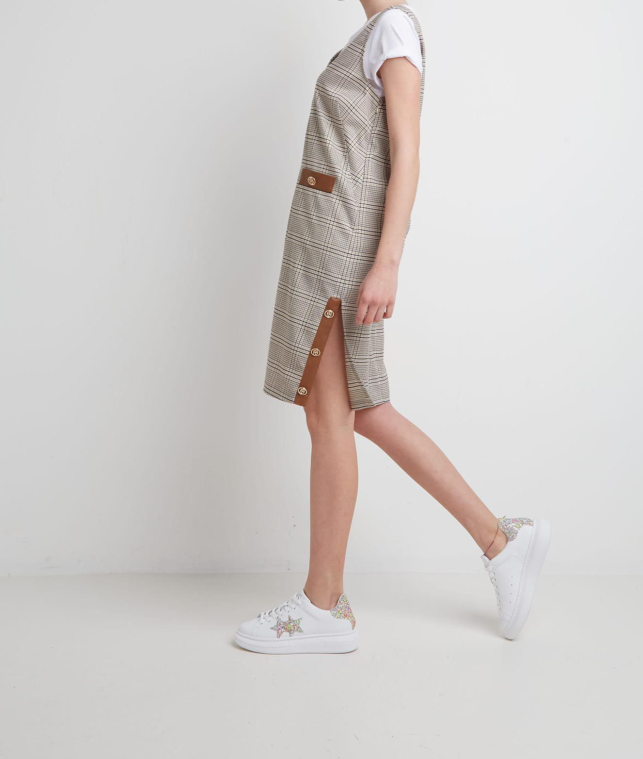 Liu Jo Kleid im Pepita Muster Braun   Maximilian